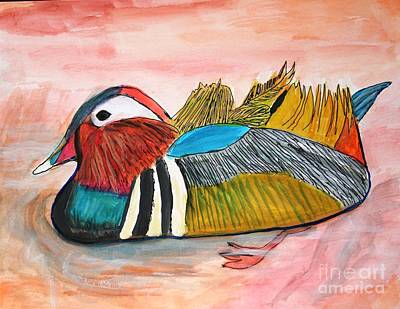 Painting - Duck by Victoria Hasenauer