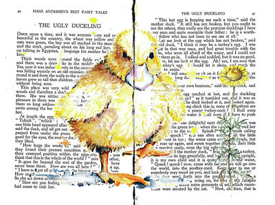 Mixed Media - Duckling Fairy Tale by Heidi Kriel