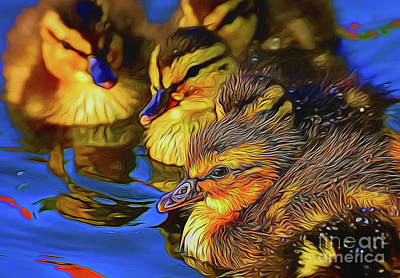 Photograph - Ducklings 19518 by Ray Shrewsberry