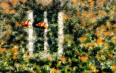 Digital Art - Ducklings by Abbie Shores