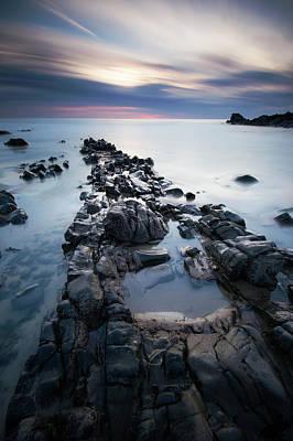Photograph - Duckpool Beach Sunset by Mark Leader