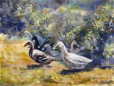Painting - Duck's Day Out by Ryn Shell