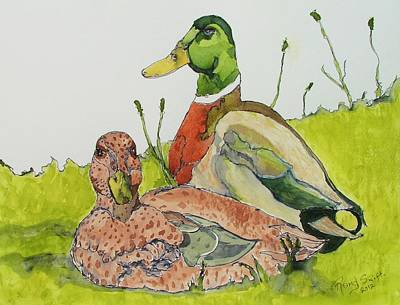 Painting - Ducks In Love by Rand Swift
