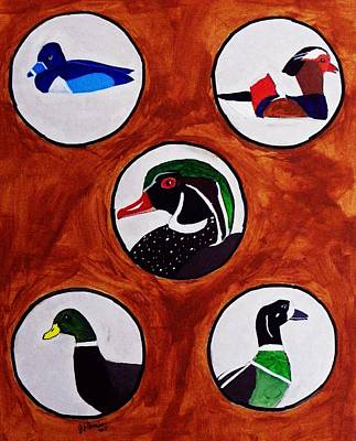 Ducks Print by Joseph Frank Baraba