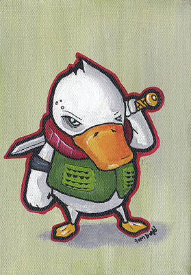 Painting - Ducky Death by Tim Boyd