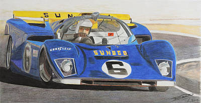 Sportscar Drawing - Duct Tape Not Included by Gustavo Bondoni