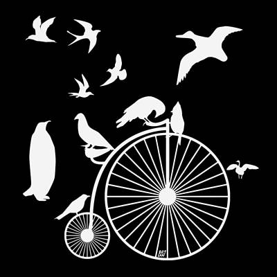 Digital Art - Dudes The Birds Are Flocking White Transparent Background by Barbara St Jean
