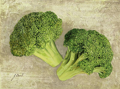 Broccoli Painting - Due Broccoletti by Guido Borelli