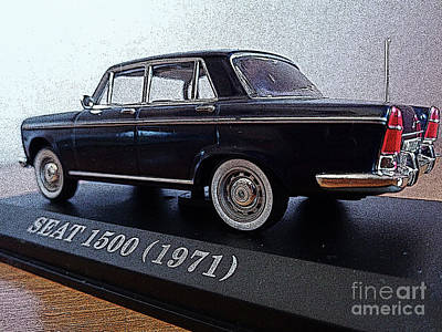 Photograph - Die Cast 1971 Seat 1500 3 by Don Pedro De Gracia