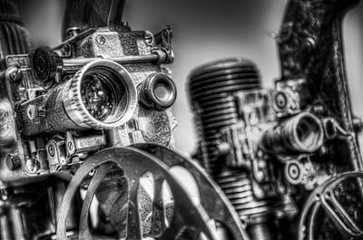 Antique Photograph - Dueling Projectors by Scott Norris