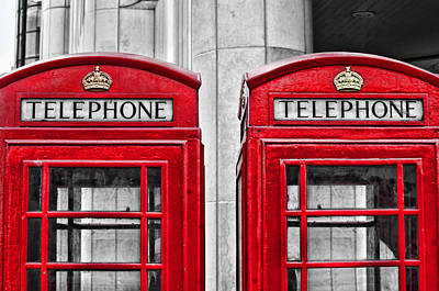 Photograph - Dueling Telephones by Sharon Popek