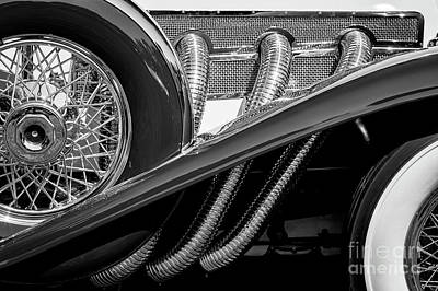 Photograph - Duesenberg Exhaust by Dennis Hedberg