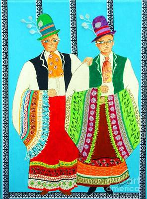 Mixed Media - Duet -- #5 Hungarian Rhapsody Series by Jayne Somogy