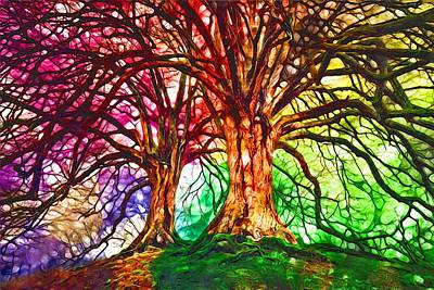 Digital Art - Duet by Laurie Williams