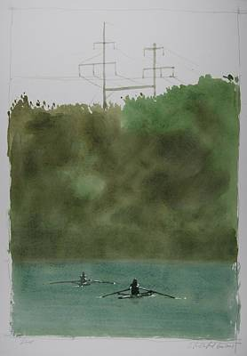 Powerlines Painting - Duet by Stephen Rutherford