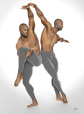 Dueto De Danza Art Print