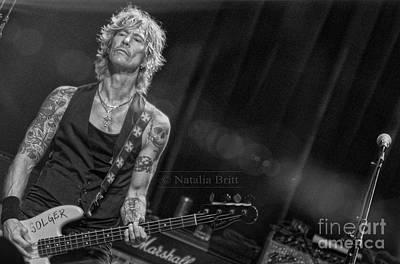 Duff Mckagan Photograph - Duff Mckagan Print by Natalia Britt