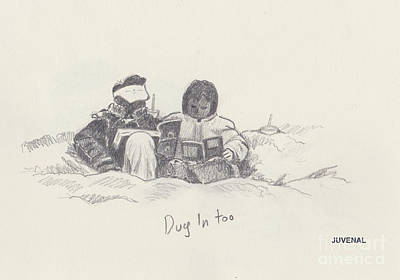 Drawing - Dug In Too by Joseph Juvenal