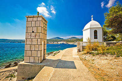Photograph - Dugi Otok Island Lantern And Chapel by Brch Photography