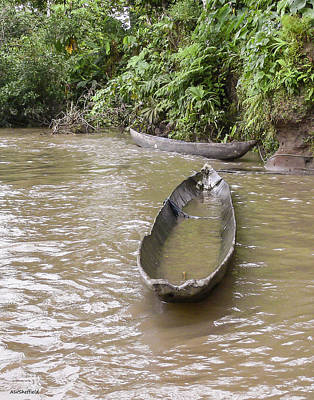Photograph - Dugout Canoe - Ecuador by Allen Sheffield