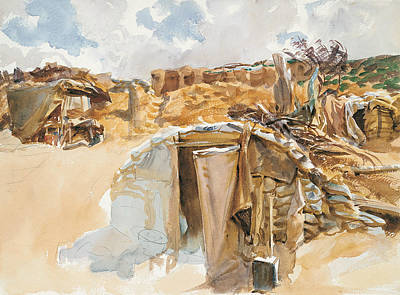 Dugouts Drawing - Dugout by John Singer Sargent