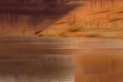 Photograph - Dugout Pond Reflection by Deborah Hughes