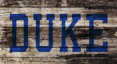 Duke Blue Devils 5a Art Print by Brian Reaves