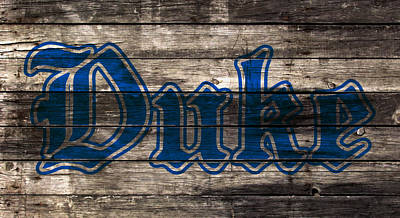 Duke Mixed Media - Duke Blue Devils 5d by Brian Reaves