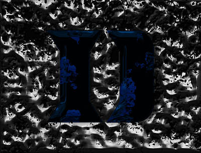 Duke Mixed Media - Duke Blue Devils  by Brian Reaves