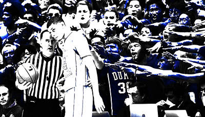 Duke Mixed Media - Duke Blue Devils Crazies by Brian Reaves
