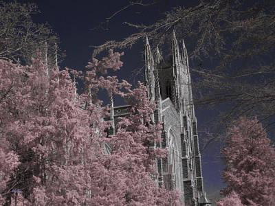Photograph - Duke Chapel 2 - Infrared by Paulette B Wright