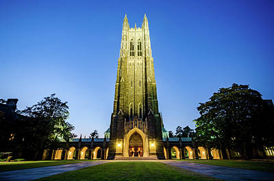 Photograph - Duke Chapel At Dusk by Anthony Doudt