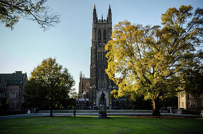 Photograph - Duke Chapel At Sunset by Anthony Doudt