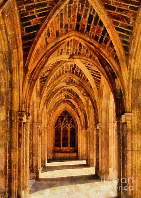 Duke Chapel Art Print by Betsy Foster Breen