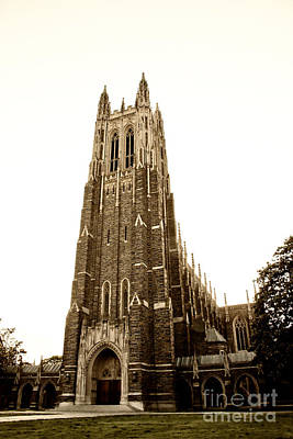 Photograph - Duke Chapel In Sepia Tones by Jill Lang
