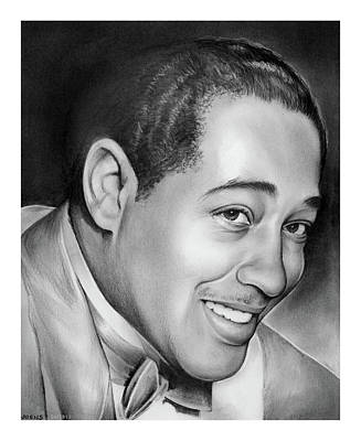 Jazz Legends Wall Art - Drawing - Duke Ellington by Greg Joens