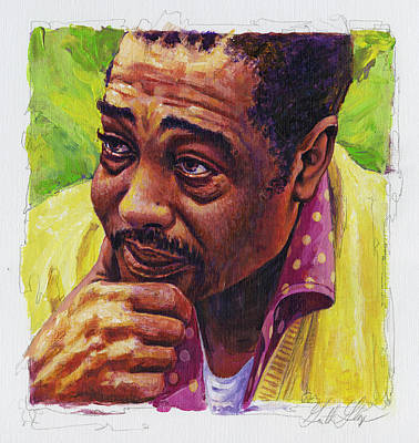 Jazz Royalty Free Images - Duke Ellington in Yellow and Green Royalty-Free Image by Garth Glazier