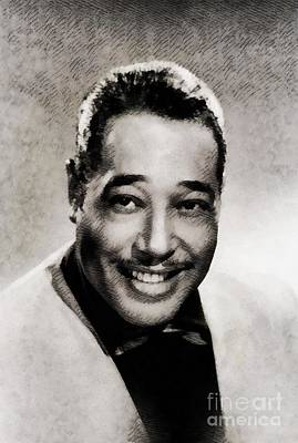 Music Royalty-Free and Rights-Managed Images - Duke Ellington, Music Legend by John Springfield by John Springfield