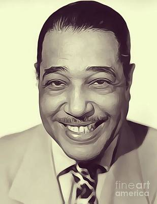 Music Royalty-Free and Rights-Managed Images - Duke Ellington, Music Legend by Esoterica Art Agency