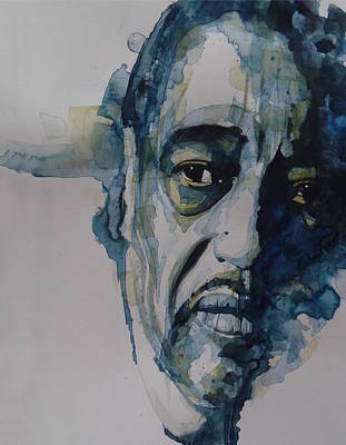 Jazz Legends Wall Art - Painting - Duke Ellington  by Paul Lovering