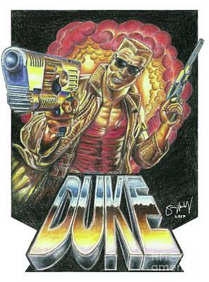 Duke Nukem Drawing Original