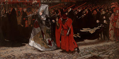 Staff Painting - Duke Of Gloucester And The Lady Anne by Mountain Dreams