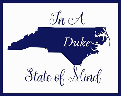 Digital Art - Duke State Of Mind by Paulette B Wright