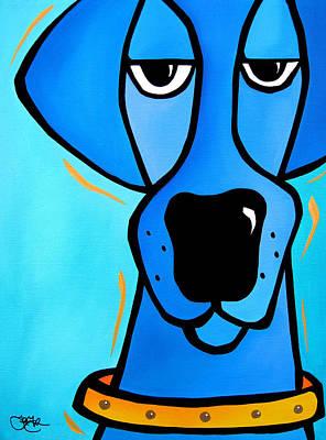 Duke Art Print by Tom Fedro - Fidostudio