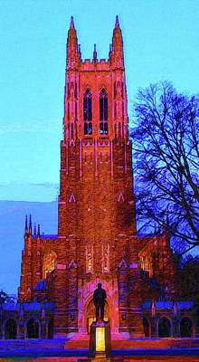 Mixed Media - Duke University Chapel by DJ Fessenden