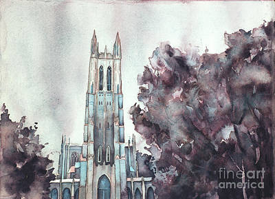 Painting - Duke University Chapel by Ryan Fox
