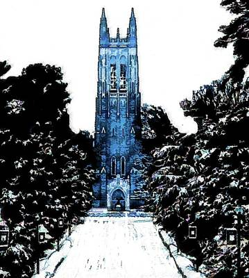 Mixed Media - Duke University by DJ Fessenden