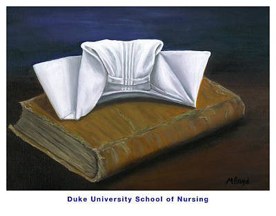 University School Painting - Duke University School Of Nursing by Marlyn Boyd