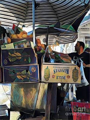 Photograph - Dulce Bananas - Market Day In New York - Variation by Miriam Danar