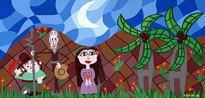 Don Quijote Painting - Dulcinea Rules by Lourdes  SIMON